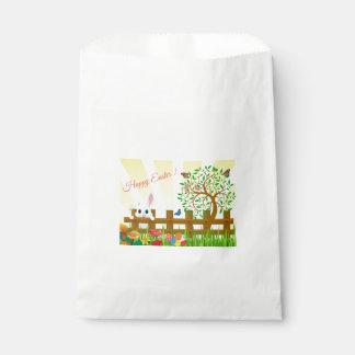 Sacolinha Ilustração do coelho de felz pascoa