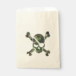 Sacolinha Impressão verde militar do exército da camuflagem