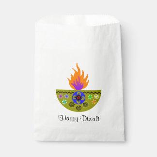 Sacolinha Lâmpada colorida Diya de Diwali