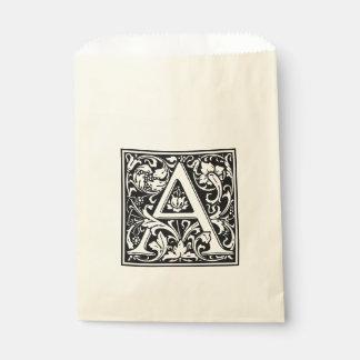 Sacolinha Letra floral do vintage elegante um monograma