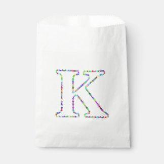 Sacolinha Letra K da estrela do arco-íris