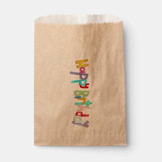 Sacolinha Letras Handmade do feliz aniversario