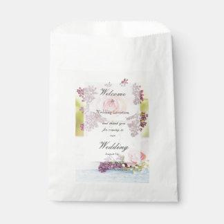 Sacolinha Lilacs e casamento vintage dos rosas editável