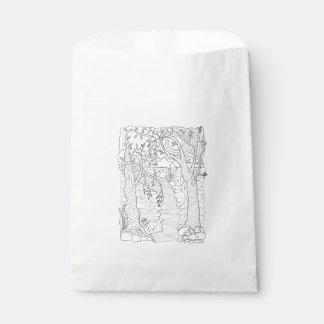 Sacolinha Linha design do córrego da floresta da arte