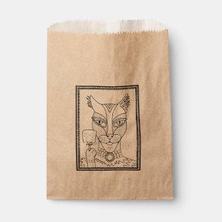 Sacolinha Linha design do pirulito do rato do gatinho do