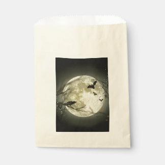 Sacolinha Lua do Dia das Bruxas - ilustração da Lua cheia