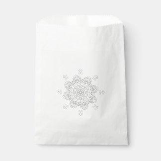 Sacolinha Mandala bonita do vetor, elemento modelado do