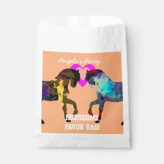 Sacolinha Miúdos cavalo e bolsas do favor dos corações para