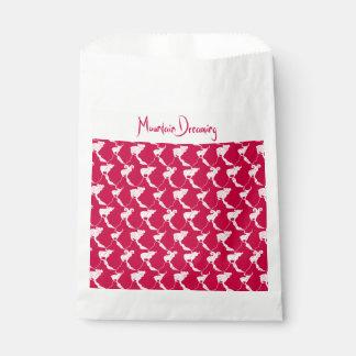 Sacolinha Montanha que sonha favores vermelhos & Bonboniere