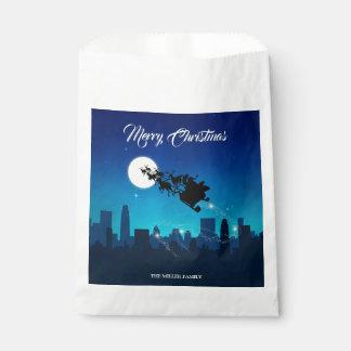 Sacolinha Natal do trenó de Papai Noel - saco do favor