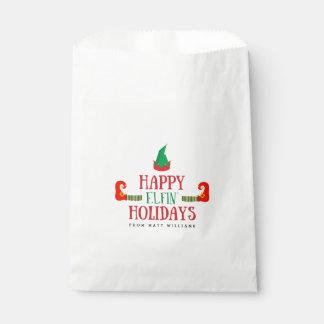 Sacolinha Natal Elfin feliz dos feriados