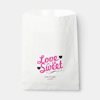 Sacolinha O amor antiquado é favor doce ensaca (o rosa