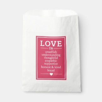 Sacolinha O amor é… as bolsas do favor