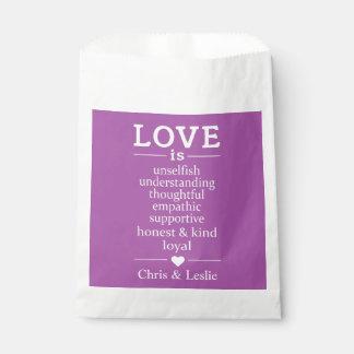 Sacolinha O amor é… nomes feitos sob encomenda & bolsas do