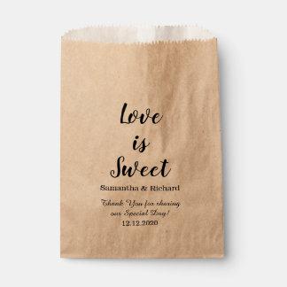 Sacolinha O amor é obrigado doce do casamento dos doces você