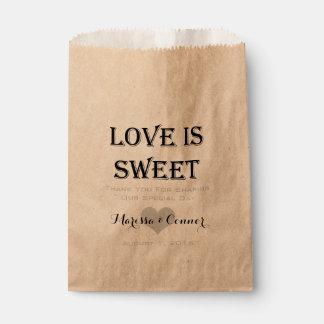 Sacolinha O amor é saco Wedding personalizado doce do favor