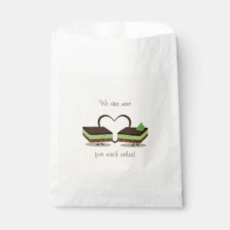 Sacolinha O amor Nanaimo da hortelã barra as bolsas do favor