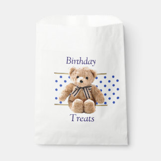 Sacolinha O aniversário trata as bolsas do favor dos doces