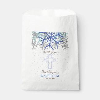 Sacolinha O baptismo de prata do floco de neve dos azuis