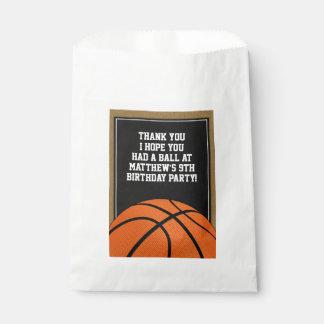 Sacolinha O basquetebol favorece o saco para fãs do B-ball