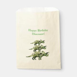 Sacolinha O dinossauro do feliz aniversario planta