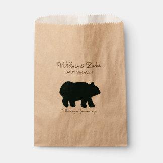 Sacolinha O favor de partido rústico do urso ensaca Kraft