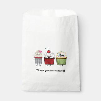 Sacolinha O glacé da família do cupcake polvilha bolos da