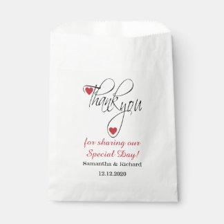 Sacolinha Obrigado à moda do casamento você doces