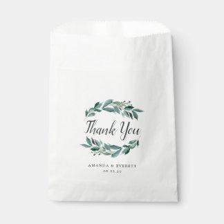 Sacolinha Obrigado abundante da folha você