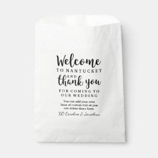Sacolinha Obrigado bem-vindo Wedding você saco feito sob