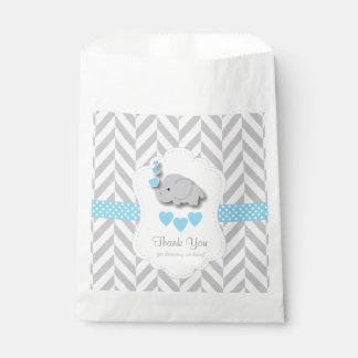 Sacolinha Obrigado cinzento azul, branco do chá de fraldas