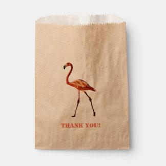 Sacolinha Obrigado cor-de-rosa do flamingo você saco feito