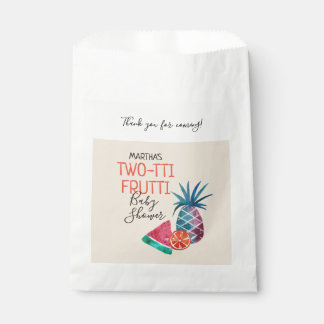 Sacolinha Obrigado do chá de fraldas de Two-tti Frutti você