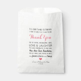 Sacolinha Obrigado do deleite do favor do casamento você