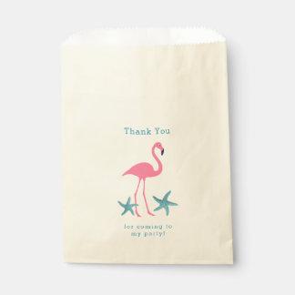 Sacolinha Obrigado do flamingo e da estrela do mar você as