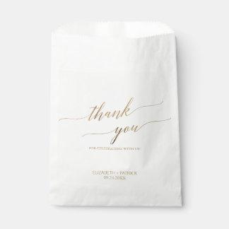 Sacolinha Obrigado elegante da caligrafia do ouro você