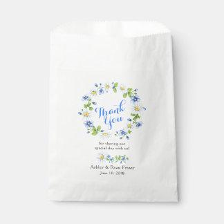 Sacolinha Obrigado floral do casamento da margarida branca