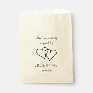 Sacolinha Obrigado que dobro do casamento do coração você