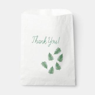 Sacolinha Obrigado saco verde do favor do teste padrão da