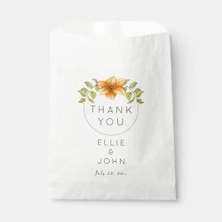 Sacolinha Obrigado Wedding você favorece a flor da estrela