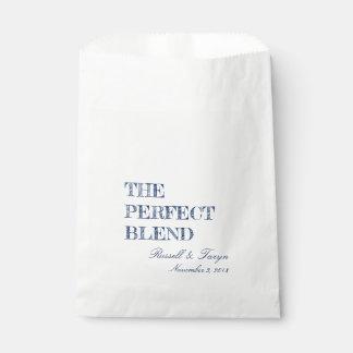 Sacolinha Os favores perfeitos do café da mistura, marinho