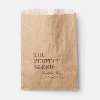 Sacolinha Os favores perfeitos do café da mistura, mistura
