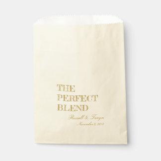 Sacolinha Os favores perfeitos do café da mistura, ouro da