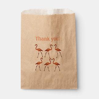 Sacolinha Os flamingos cor-de-rosa agradecem-lhe saco feito