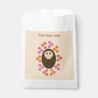 Sacolinha Ouriço sonolento e as bolsas feitas sob encomenda