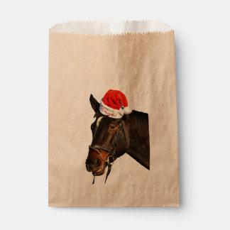 Sacolinha Papai noel do cavalo - cavalo do Natal - Feliz