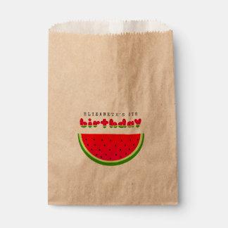 Sacolinha Partido do piquenique do aniversário da melancia
