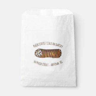 Sacolinha Pastelaria italiana de Cannoli dos pedaços de