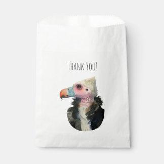 Sacolinha Pintura Branco-Dirigida da aguarela do abutre
