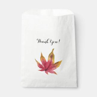 Sacolinha Pintura da aguarela da folha de bordo do outono